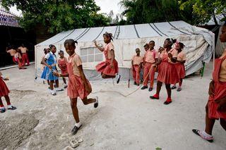Haiti jump roping