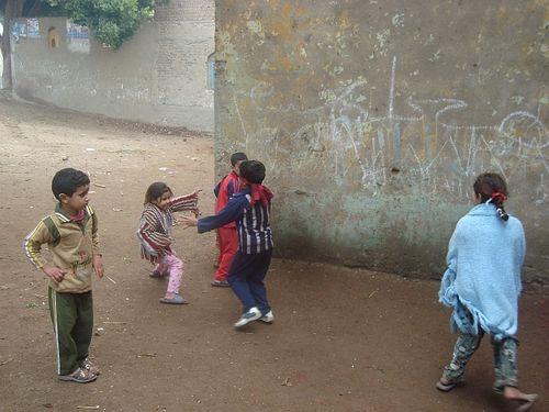 Children play Blind-cat 1