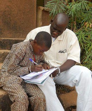 Mali spon and kid