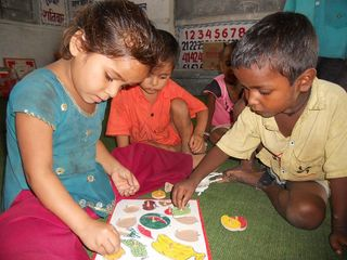 Blog_09.28.12_Children studying in ECCD center of Ram Dulari School_RSZ