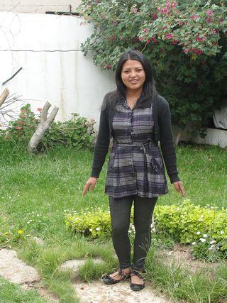Sandra Veronica Velasquez Layme at home