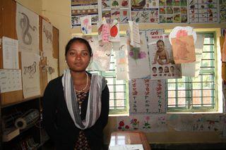 Nepal_blog_Rita in her classroom