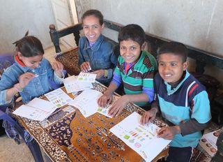 Children received thier correspondences