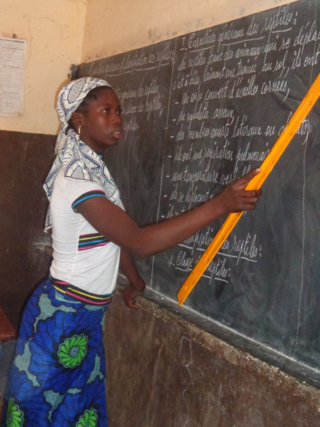 Mali Blog Post 1--Fatoumata, Achitan's daughter in class